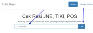 cek resi Tiki online